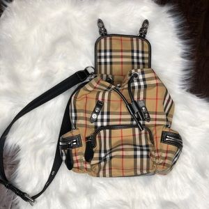 Burberry small Rucksack in Vintage Check & Leather